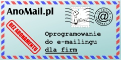 AnoMail.pl oprogramowanie e-mailingowe dla firm do wysyłania zapytań i ofert, bez abonamentu i opłat za wysyłkę email